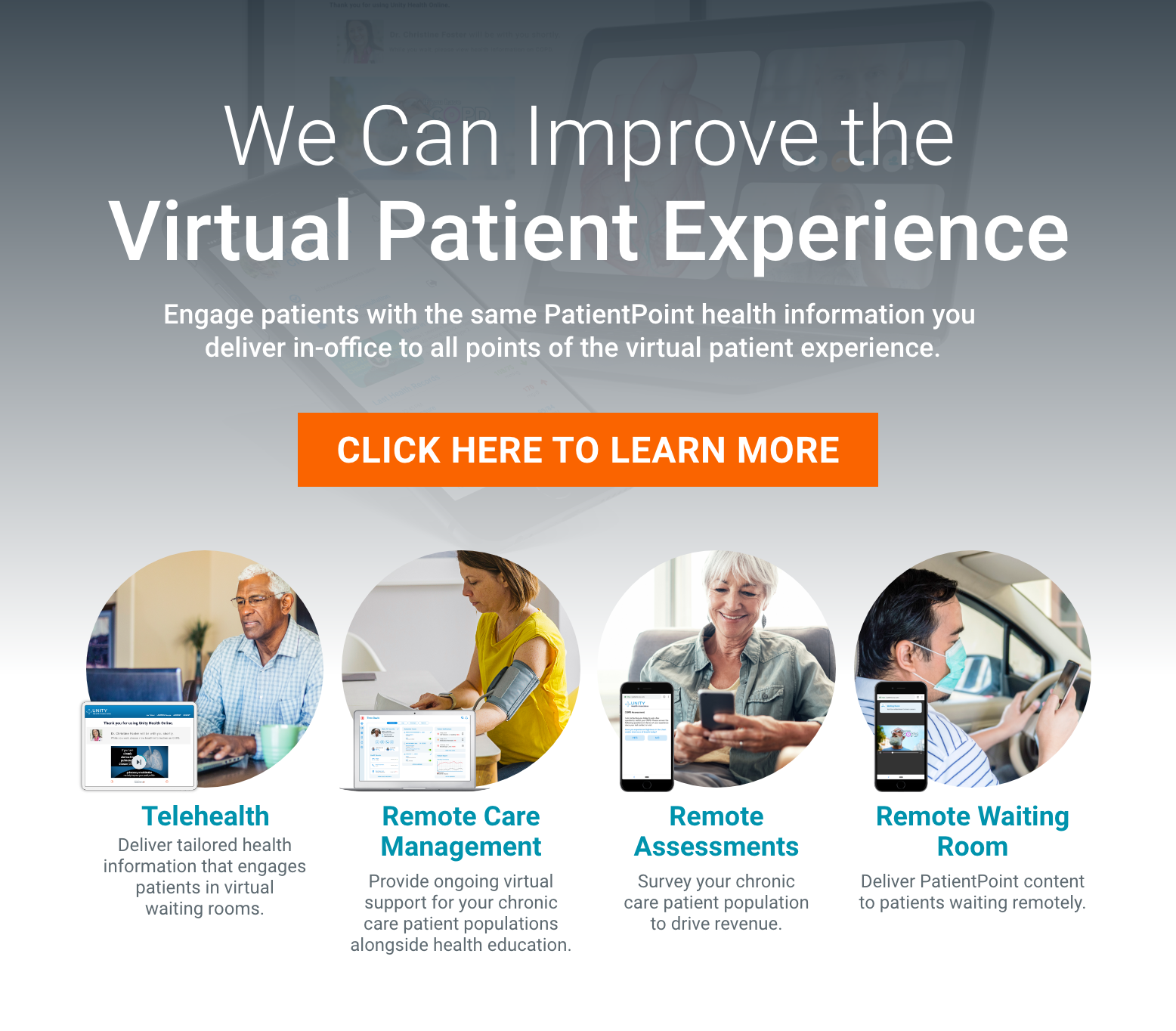 Visit our website to learn more about PatientPoint virtual health solutions